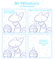 Mr Whiskers in the snow by SmokyJack