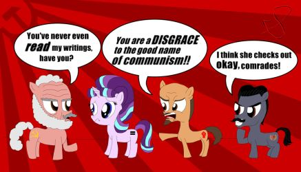 Starlight Glimmer and the Communists by ChenTheIrken