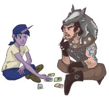 Unicorn vs Crab - Playing Cards by Robso by SEMC