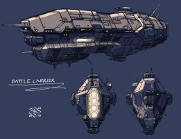 Battle Carrier by 4-X-S