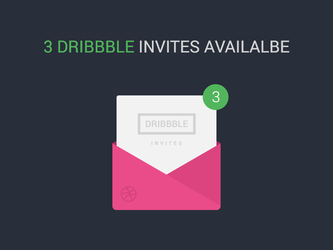 3 Dribbble Invites by waseemarshad