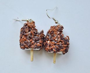 Polymer clay caramel ice lolly by Aagrafka