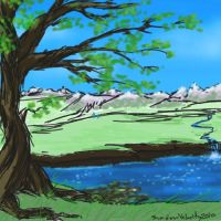 Spherus Magna with Lake by DreamingFoxfire
