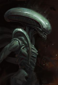Alien sketch by Vyter