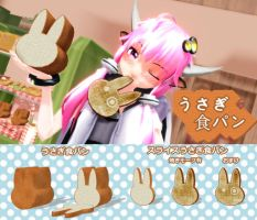 Rabbit bread MMD food DOWNLOAD by Hack-Girl