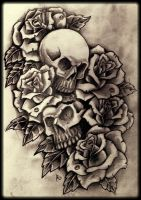 Skulls and roses 6b by 76Bev