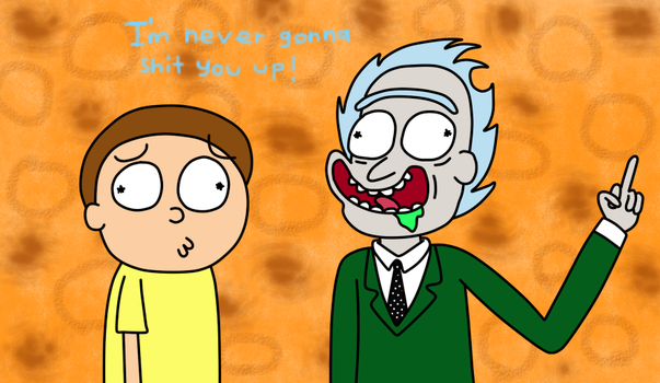 Rick Astley and Morty by BlueLight439
