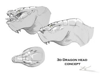 3D Dragon Model Concepts by Cyroris