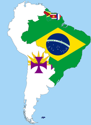South America: Spanish speaking countries united by poklane