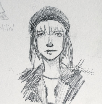 Quick little sketch of my OC by PotatoThug