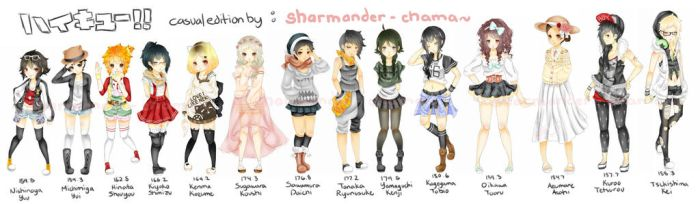 [ ce ] - haikyuu - genderbent casual by Sharmander-chama