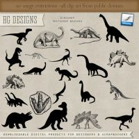 PS Brushes: Dinosaurs by HGGraphicDesigns