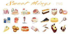 PNG#7 Sweet Things by miaoaoaoao
