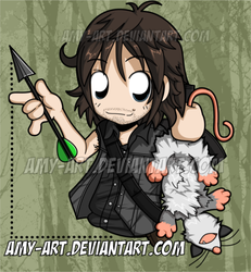 We Brought Dinner - Daryl - The Walking Dead by amy-art