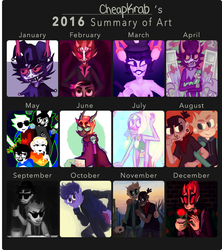 2016 Summary of Art by cheapkrabs