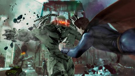 Superman vs Doomsday by angelmora9021