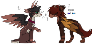 (CLOSED) 2 Devil Dog Adoptable Auctions (Free SB!) by CatSplat