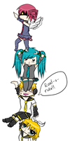 Vocaloid Chibi Chain by HoneyMochaCat