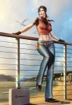 Claire Redfield Sunset Beach by Moonarc