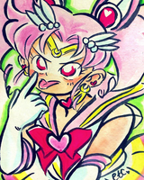 Sailor Moon // Mini Moon by adrawer4ever