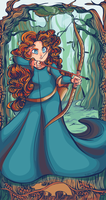 Merida - Art Nouveau by MaryAQuiteContrary