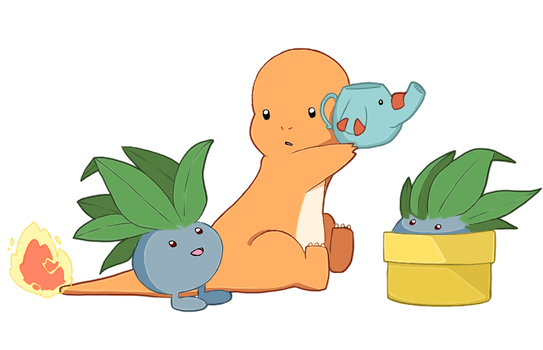 Watering Oddish by mjoyart