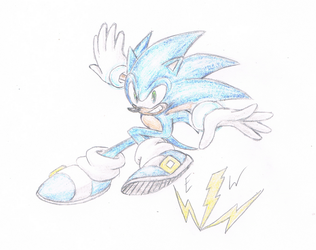 Cyan Sonic (Lightspeed?) by thesoniczone11