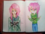 Two styles by AuroraAkkaris