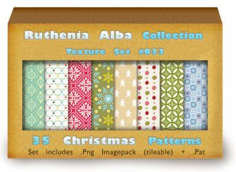 Txt Set 33: Christmas Patterns by Ruthenia-Alba