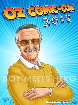 Commission of Stan Lee by Boy-Meets-Hero