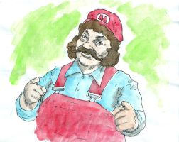 Captain Lou Albano as Mario by ChanterelleandMay