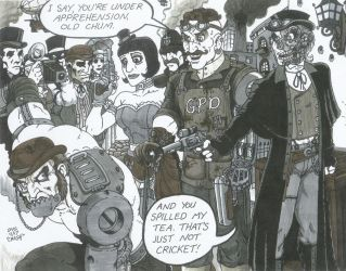 Steampunk Psycho Squad by Crash2014