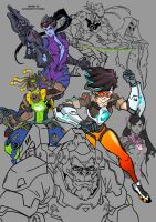 Overwatch Characters W.I.P poster by CreazytifIdeass