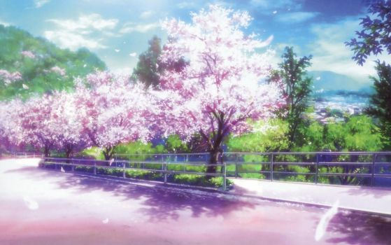 Clannad Cherry Road Clean by night-wolf23