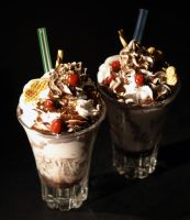 Miniature Blackforest Coups by ChocolateDecadence