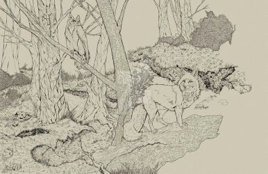 Gathering in the Forest 30,000 pgviewdrwg-WIP by LAN0RA