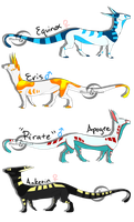 .:All my EMS--Feral Forms:. by FlamesVoices