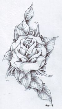 Black and gray Rose by vikingtattoo