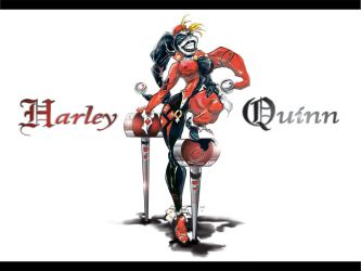 Harley Quinn Color by JustArt27