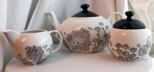 Dragonfly Field tea set by wonderlandalli