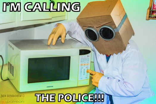 Calling the police! by Foxbeast