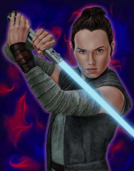 Rey by dragynsart