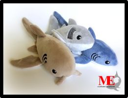 Nurse, Great White, Thresher Shark Beanie Plush by MayEsdot