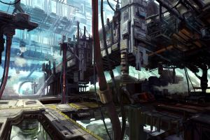 Multi layered city 2 by onestepart