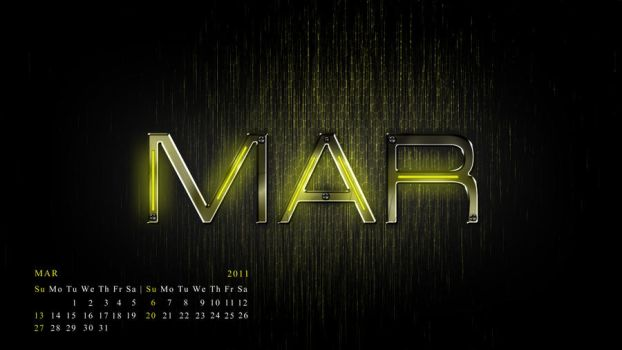 my mar calendar..........2011 by samstifler