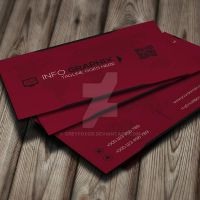 Free Red Corporate Business Card Template by GreyFoxGR