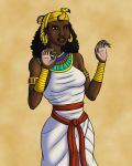 Queen Nefertari with Palms Out by TyrannoNinja