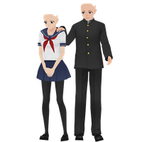 Yandere Simulator: Male and Female Bases DL by Animation--Freak
