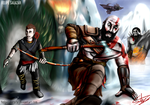 God of War - Kratos and Atreus by FelipeSalazarBR