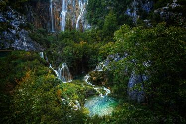 Big Waterfall Plitvice, Croatia by rudoma